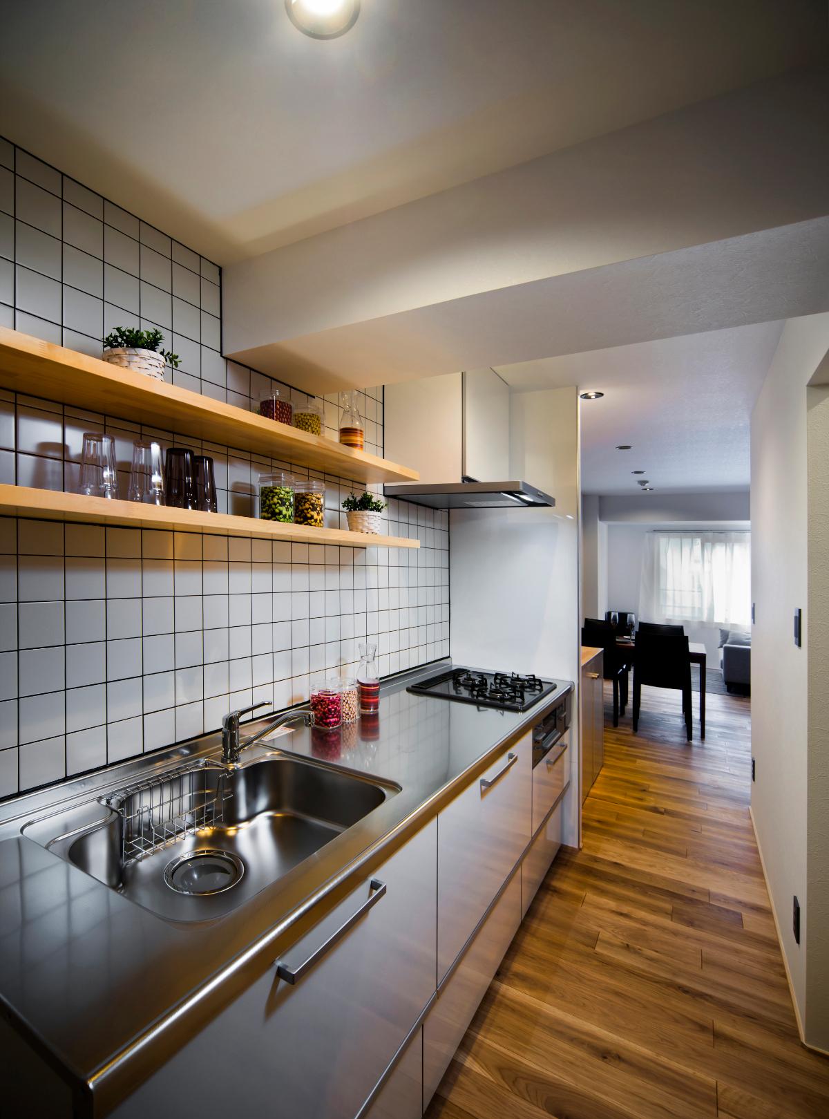 リノベーション後のキッチンスペース