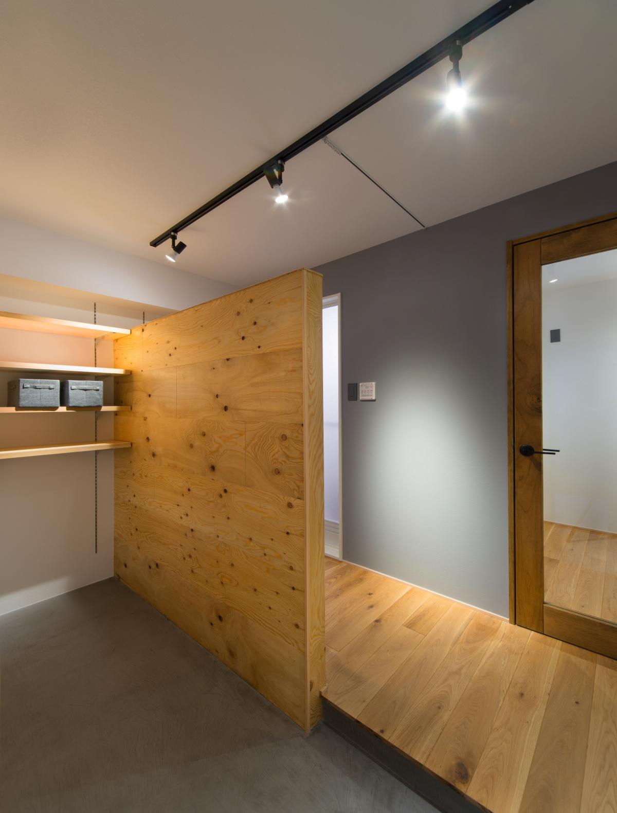 リノベーション後の洗面・浴室スペース